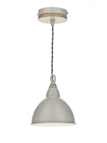 Blyton 1 Light Pendant complete with Painted Shade (Class 2 Double Insulated) BXBLY0143-17